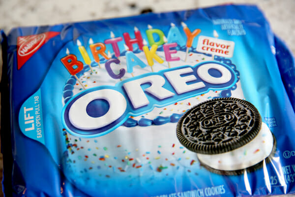 Birthday Cake Oreos in Package