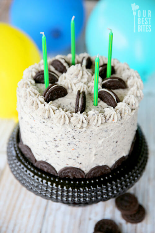 Chocolate Cookies and Cream Cake from Our Best Bites