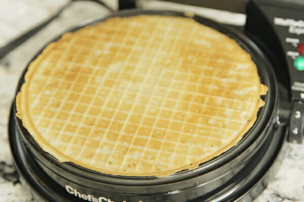 Cooked Waffle Cone