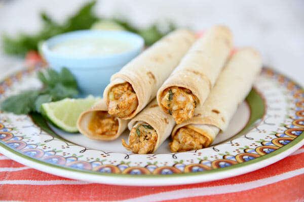 The Best Baked Chicken Taquitos.