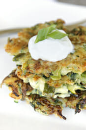 Zucchini Fritters by Our Best Bites
