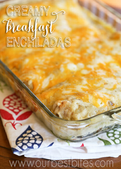 Creamy Breakfast Enchiladas from Our Best Bites