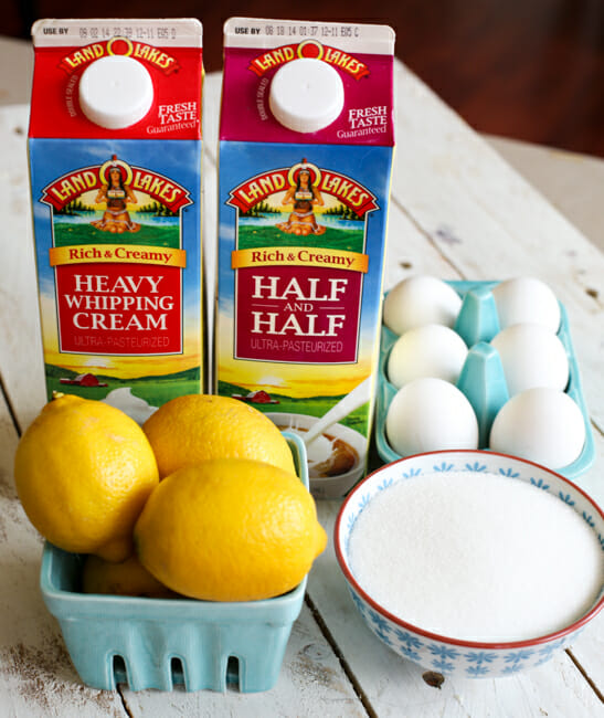 frozen lemon custard ingredients
