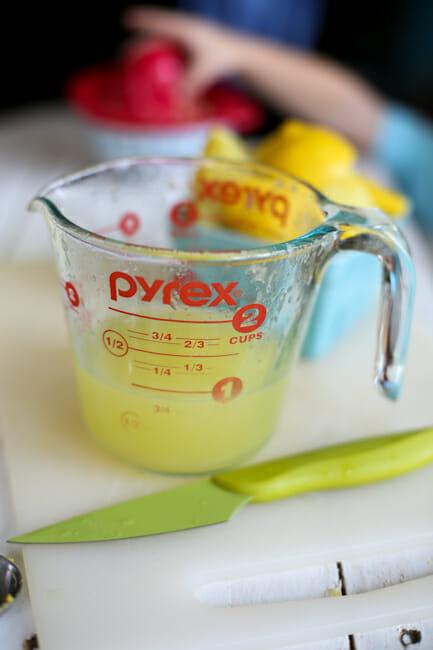 frozen lemon custard lemon juice