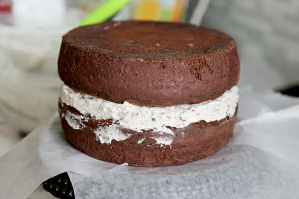 sandwiched cake