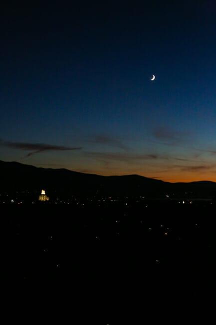 Sunset in Logan Utah