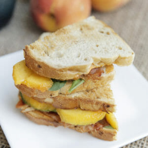 Peachy Bacon Sandwich