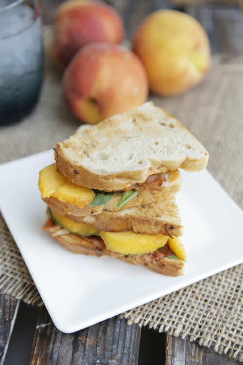 Bacon Lettuce and Peach Sandwich from Our Best Bites