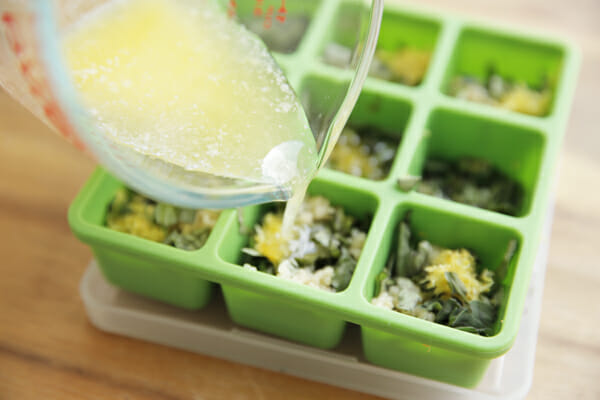 Frozen Herb Starters Filling with Butter