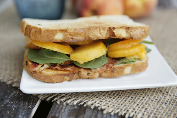 Peach Bacon Sandwich from Our Best Bites