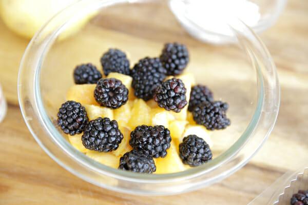 Peaches and Blackberries