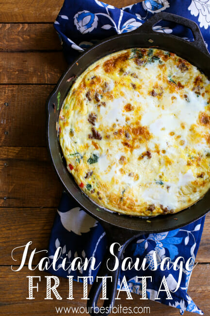 Italian Sausage Frittata from Our Best Bites