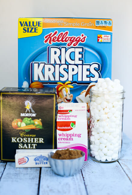 salted caramel rice krispie treat ingredients