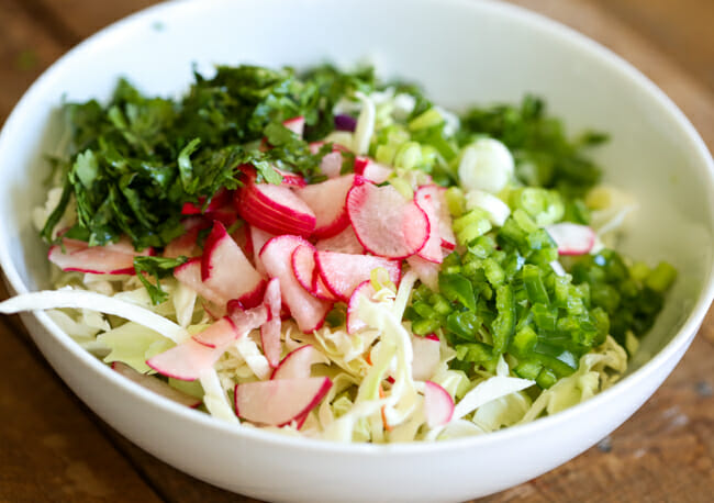 tossed slaw for fish tacos