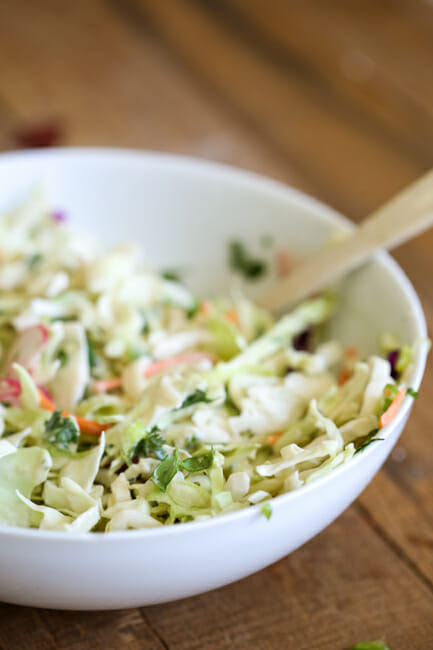 Slaw for fish tacos