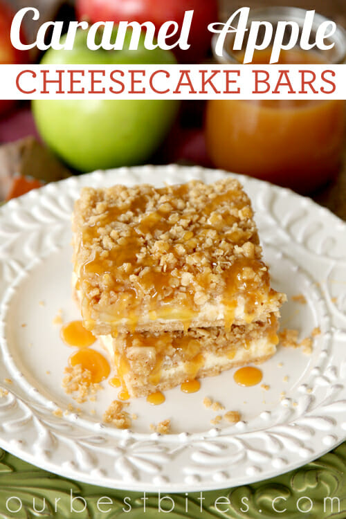 Caramel Apple Cheesecake Bars from Our Best Bites