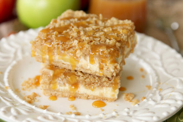 Caramel Apple Cheesecake_Bars