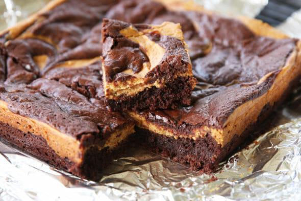 Pumpkin Brownies_Sliced Brownies