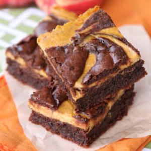 Swirled Pumpkin Cheesecake Brownies