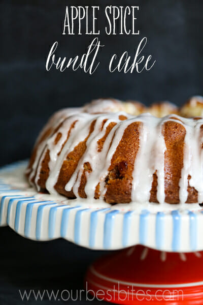 sour cream apple spice bundt cake