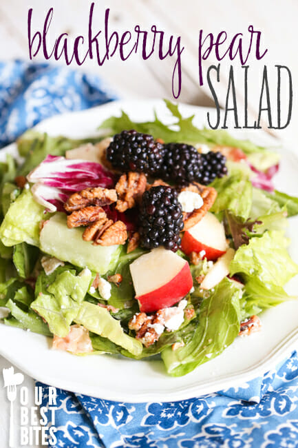 Blackberry Pear Salad from Our Best Bites