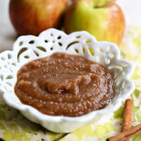 Spiced Cider Crock Pot Applesauce