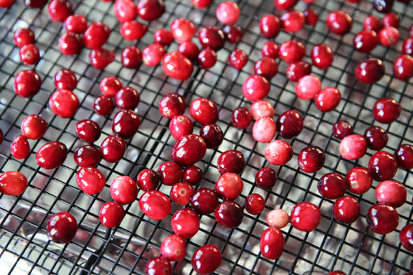 Our Best Bites Cranberries on Drying Rack