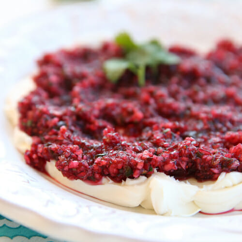 Cranberry Salsa & Cream Cheese Dip