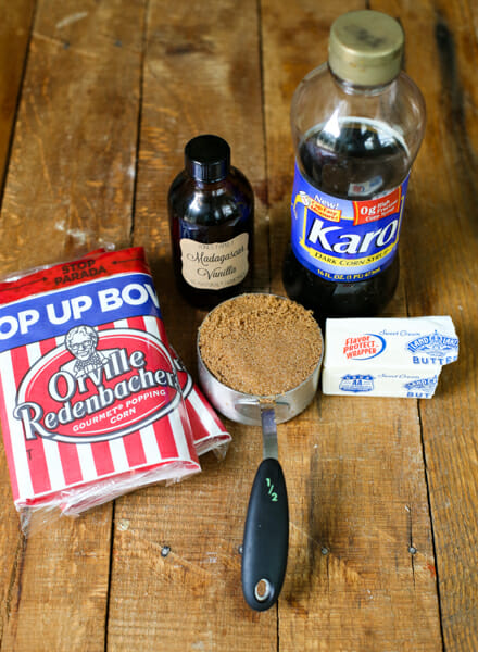 crispy salted caramel popcorn ingredients