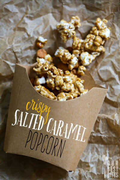 Crispy Salted Caramel Popcorn (Homemade CrackerJacks!) from Our Best Bites