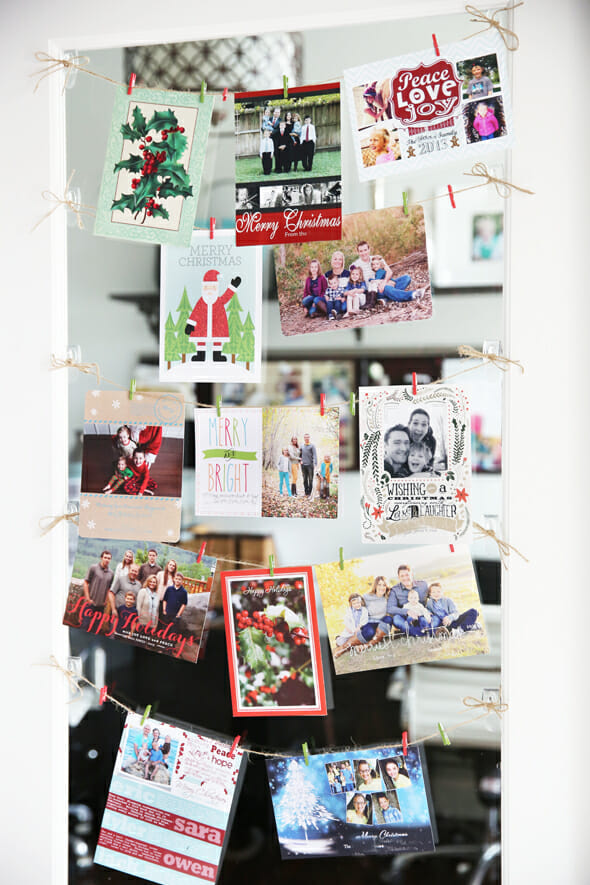 Easy Christmas Card Display