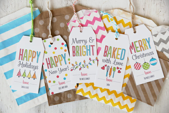 Free Holiday Printable Tags from Our Best Bites