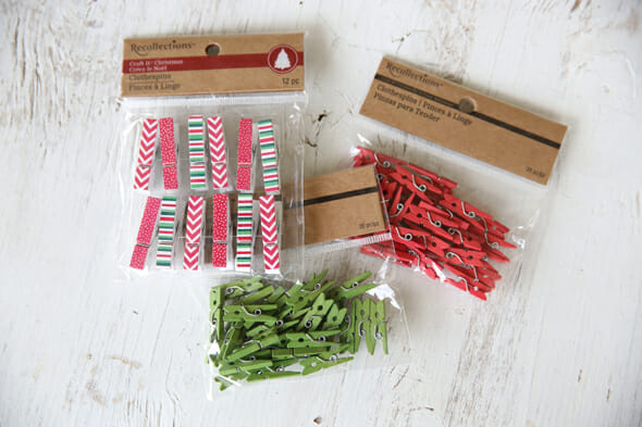 Mini Christmas Clothes Pins