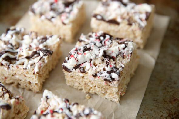 Peppermint-bark-rice-krispie-treats our best bites