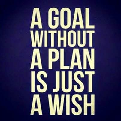 A goal without a plan is simply a wish