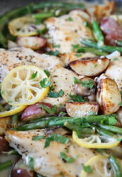 Lemon Skillet Chicken Dinner Intro