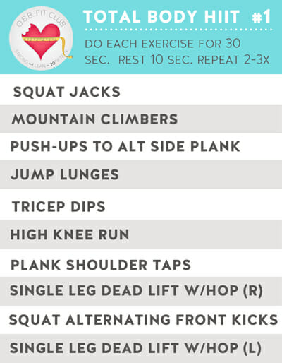 OBB workout Preview