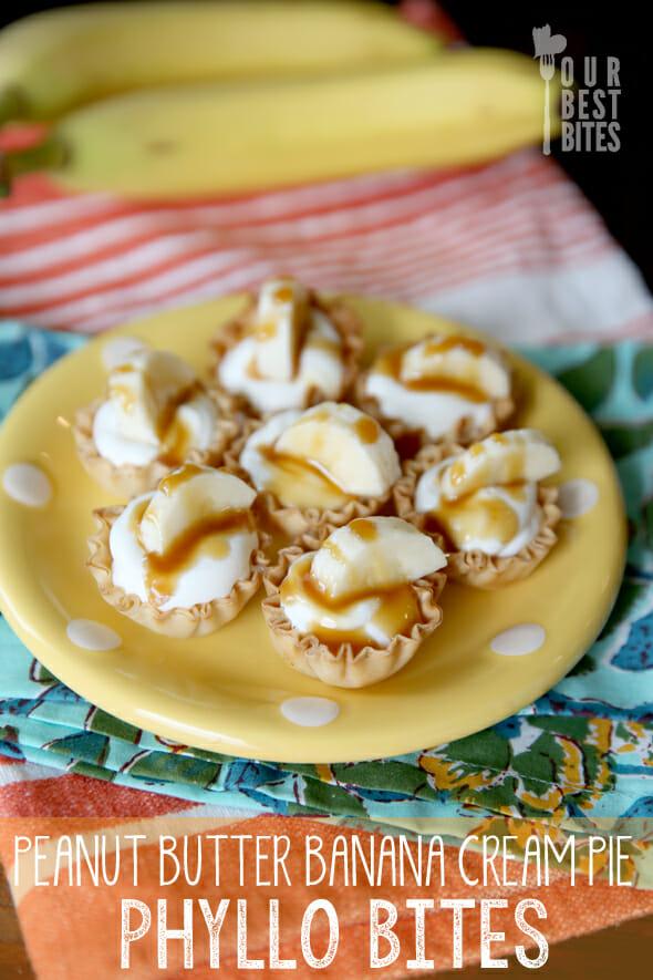 Peanut Butter Banana Cream Pie Bites from Our Best Bites