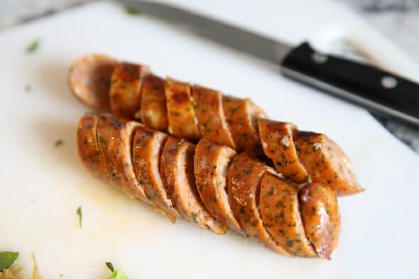Sliced Chicken Sausage