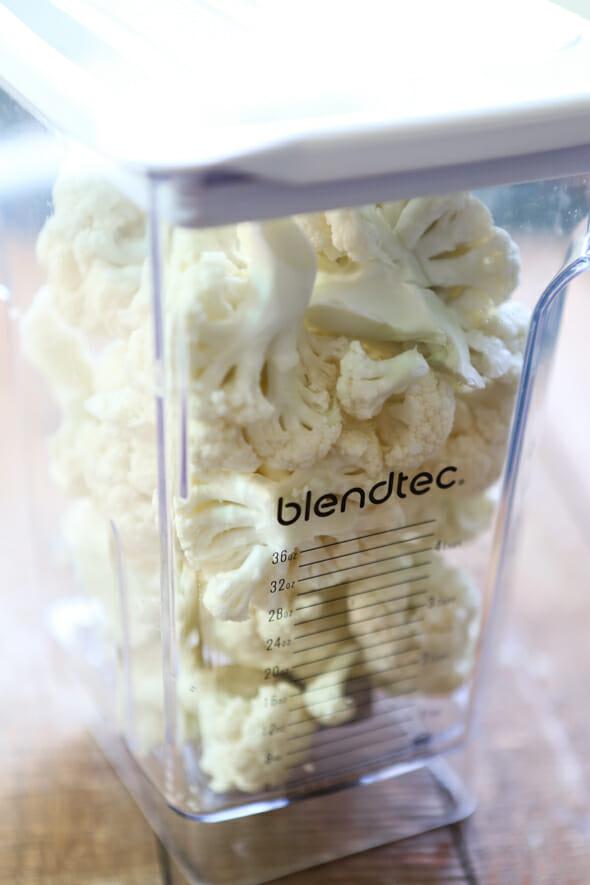 cauliflower in blender
