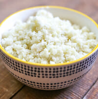 Cauliflower rice from Our Best Bites