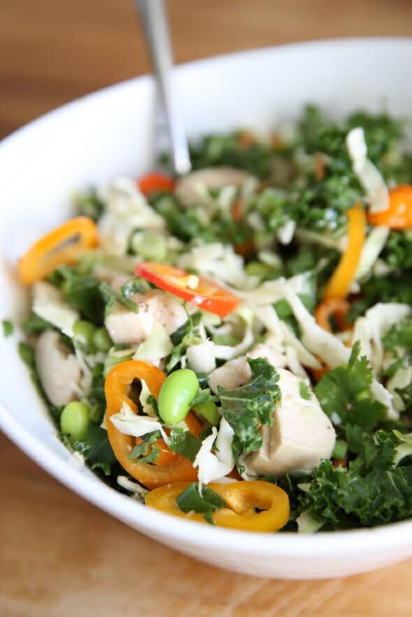 Salad Jar in a Bowl