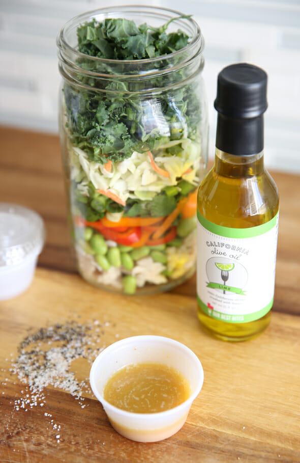 Salad Jar with Dressing