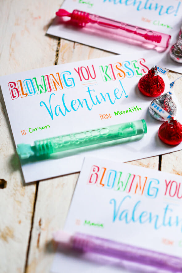 Bubble Valentines Blowing You Kisses
