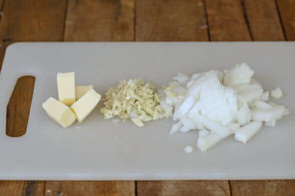 cheesy broccoli chicken casserole butter onion garlic