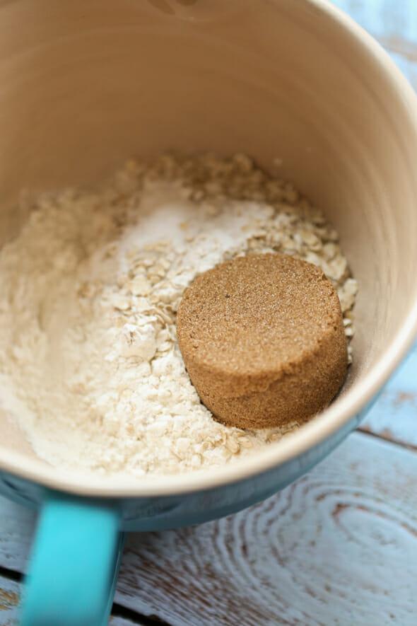oatmeal pancakes dry ingredients brown sugar