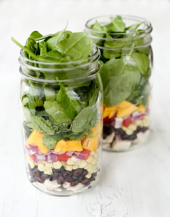 Layered Mango Salad Jars