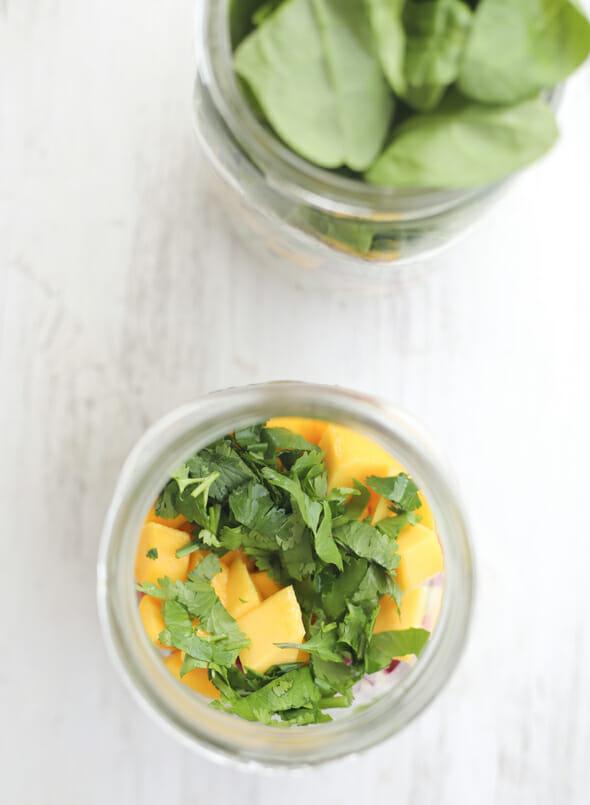 Mango Salad Jars Top View