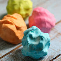 2 ingredient play dough from Our Best Bites