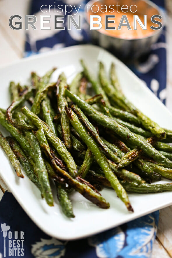 how to make crispy roasted green beans